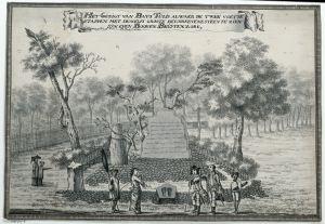 Het Gezigt van Bato Tulis , Johannes Rach, 1770 M; (rijksmuseum.nl, NG-400-K)