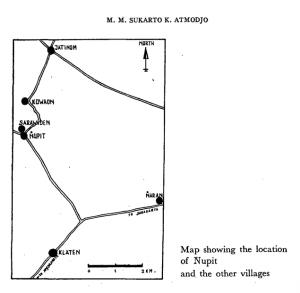 Map of Upit (Desa Nupit)